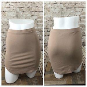 Taupe body con mini skirt size medium